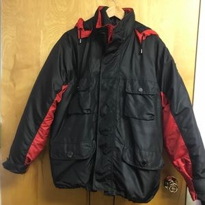 Versace Jean Couture  2 jackets in 1 red/blk sz S